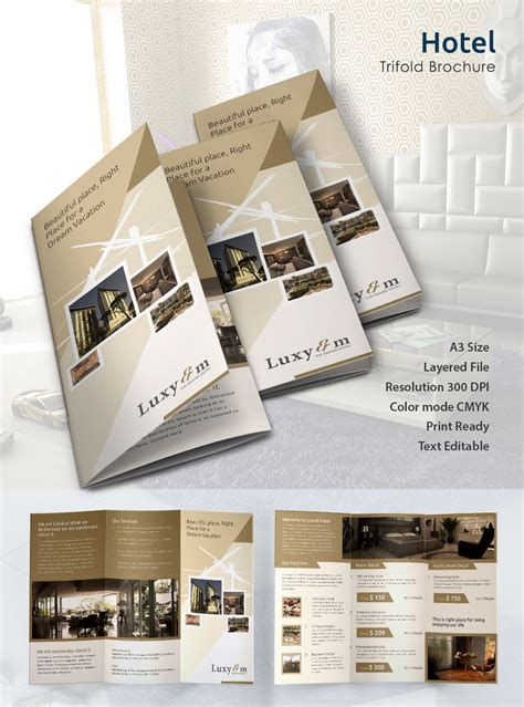 Hotel Brochure Design Templates by Hotel Brochure Design Templates The Best Templates