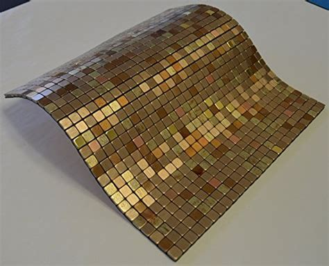Aluminum Kitchen Backsplash flexipixtile modern aluminum mosaic tile peel amp stick