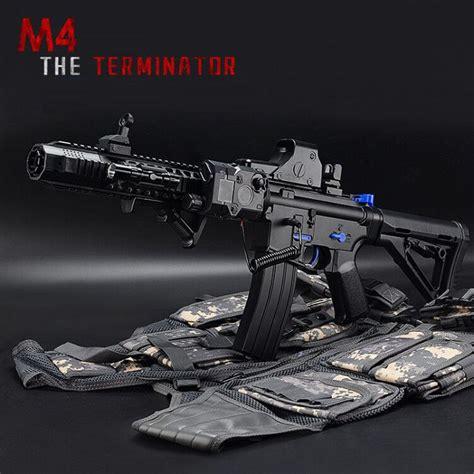 Water Gel Bullet Gun Armor m4 terminator gun electric water bullet bursts gun outdoors battle paintball cs cool black