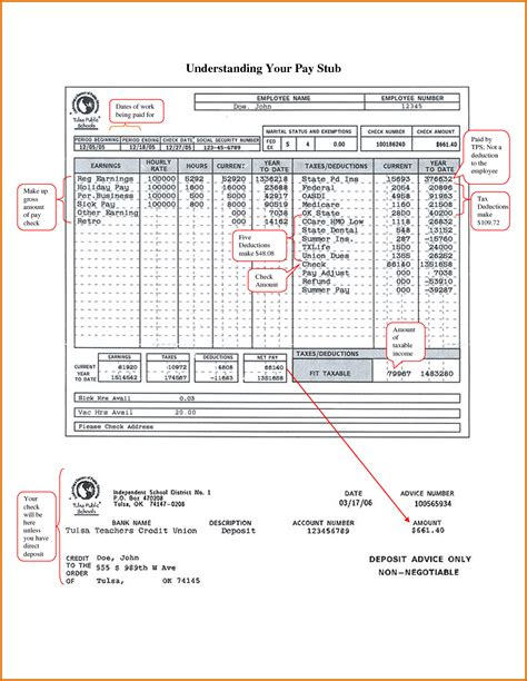 6 pay stub template microsoft office simple salary slip