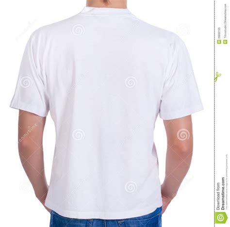 T Dos t shirt blanc sur un homme dos illustration stock illustration du illustration polo