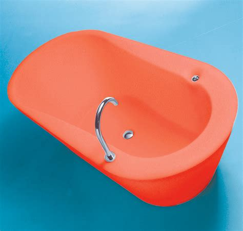 orange in bathtub make your bathroom alive with colored bathtubs homesfeed