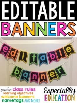 classroom banner template editable classroom banners by especially education tpt