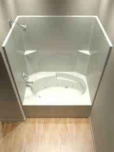 one tub and shower units