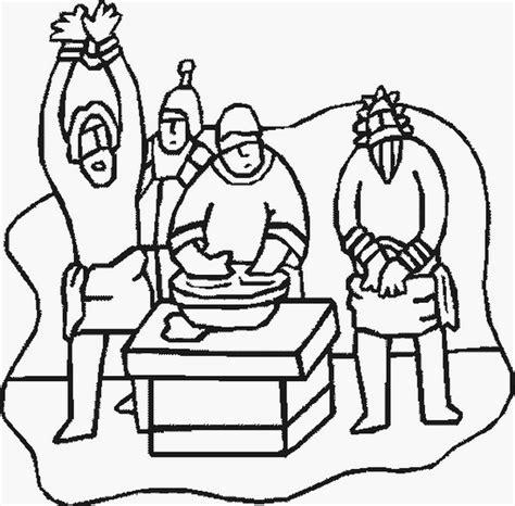 coloring pages jesus before pilate disegno gesu 26 categoria religione da colorare
