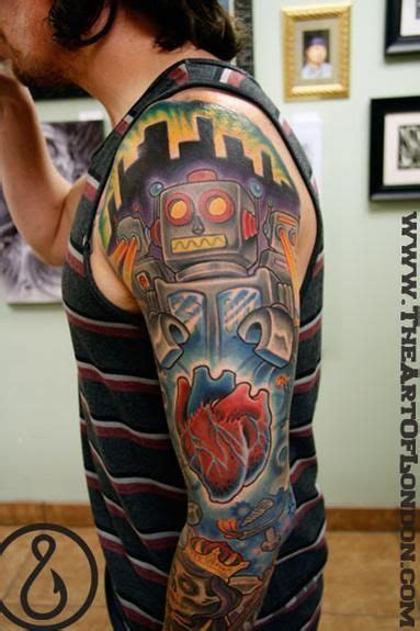 robot sleeve tattoo designs 17 best ideas about robot on grunge