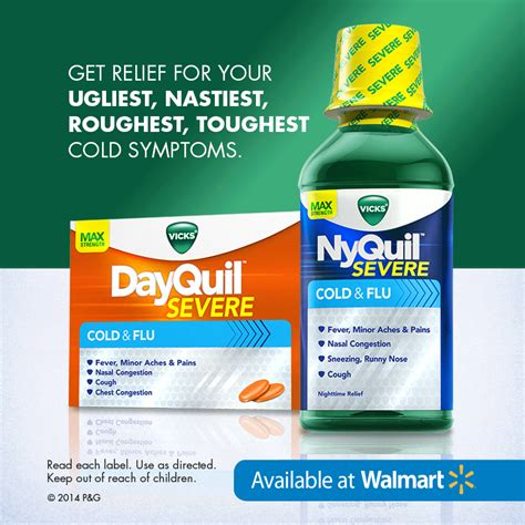 You Find At Walmart New Dayquil Nyquil Severe Cold Flu Reliefishere Time