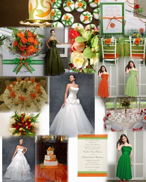 image detail for orange and green wedding colour theme by wwwglamourousgownscouk my summer