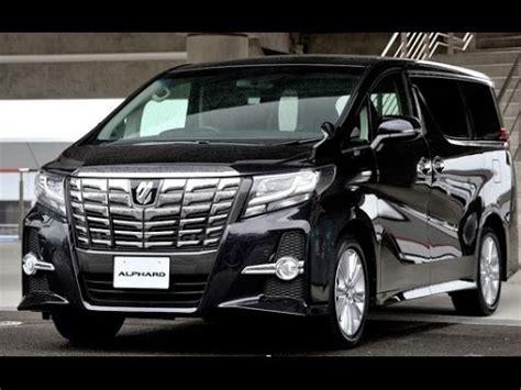 luxury minivan 2016 2017 toyota alphard vellfire minivan review