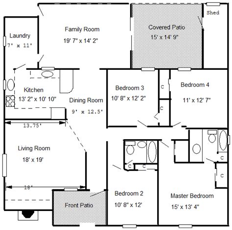 Floor Plan With Measurements | house plan measurement joy studio design gallery best