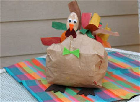 Thanksgiving Paper Bag Crafts - eco friendly thanksgiving crafts and thanksgiving projects