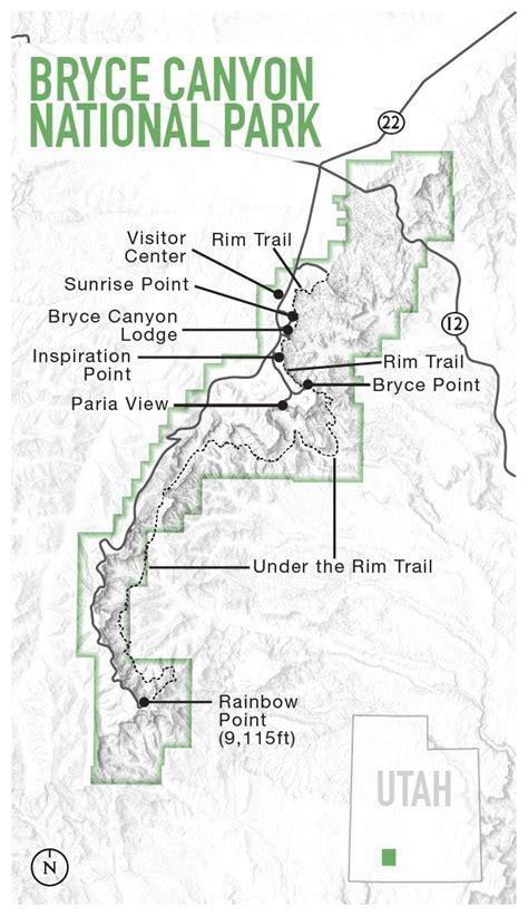 bryce hiking map 25 best bryce ideas on bryce