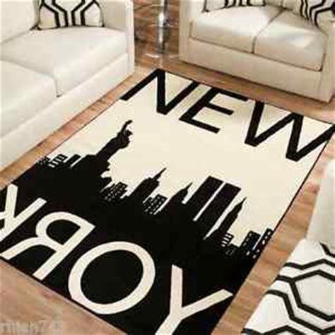 new york city rug 11 new york city nyc manhattan skyline black large area rug choose size ebay