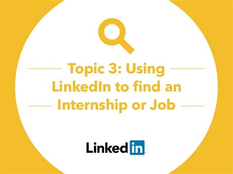 find an intern using linkedin to find an internship or