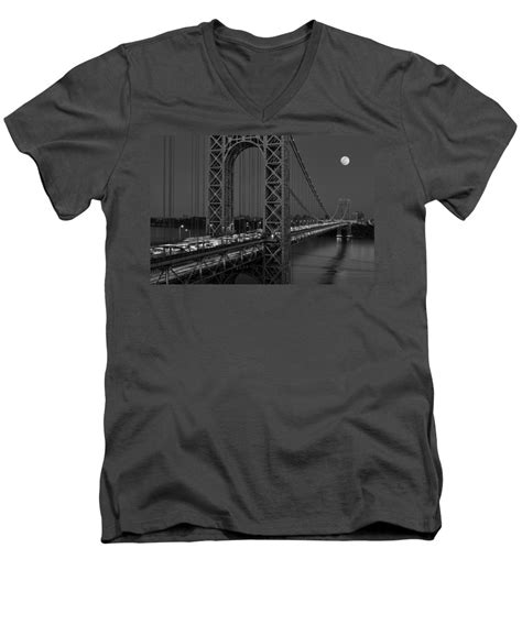 T Shirt George Washington 01navy Limited Product george washington bridge moon rise bw v neck for