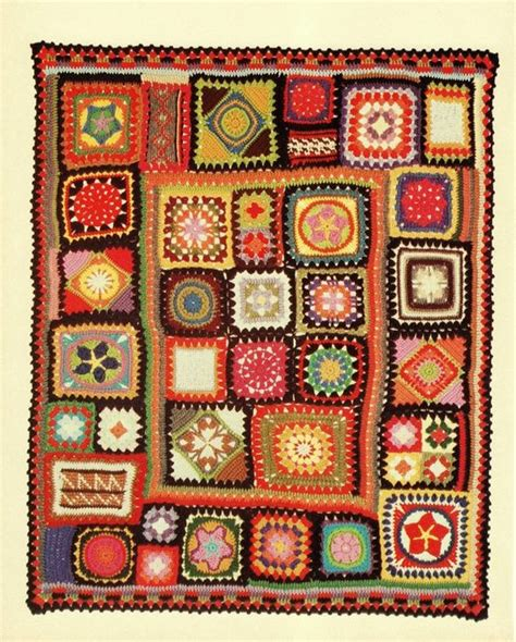 vintage pattern throw instant download pdf vintage crochet pattern for granny