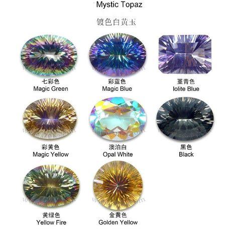 topaz color semi precious magic green rainbow color mystic topaz
