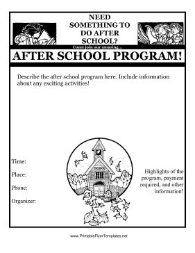 Free After School Program Flyer Template after school program flyer