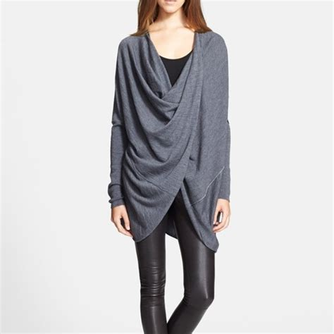 drape sweater rank style splendid women s jersey wrap cardigan