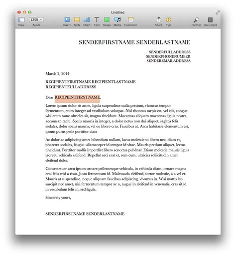 create a mail merge template applescript and pages mail merge