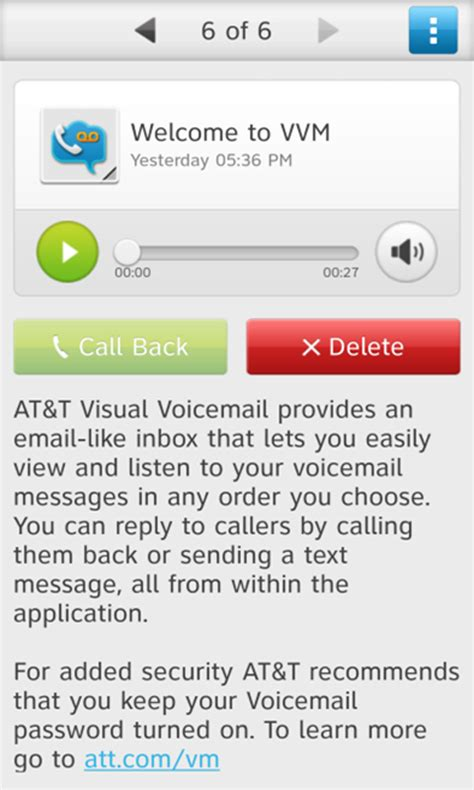 how to change voicemail on android at t visual voicemail android apps on play