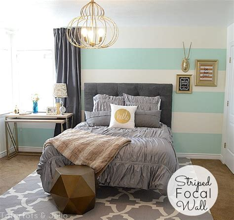 grey and gold bedroom striped aqua grey and gold guest bedroom reveal all the