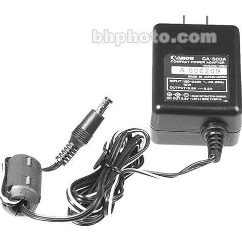 canon power charger canon ca 500 ac adapter charger 3022a002 b h photo