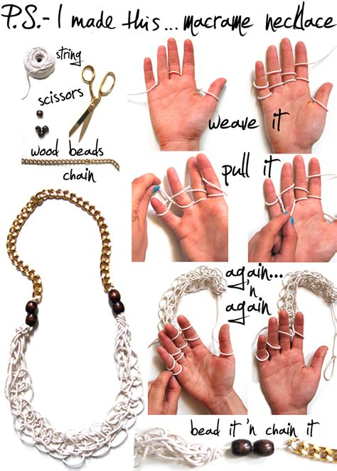 How To Make A Handmade Necklace - 12 diy chain statement necklaces