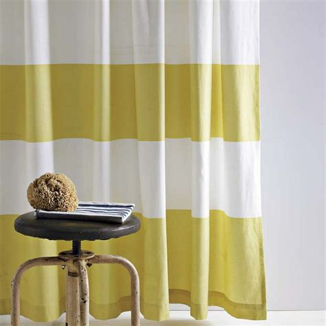yellow stripe shower curtain zig zags chevron stripes and ikat tired trendy or