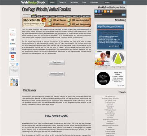 parallax website tutorial video parallax scrolling tutorials resources