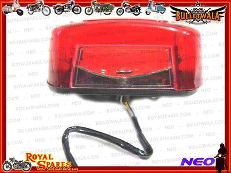 universal tail light assembly premium universal royal enfield tail light assembly new