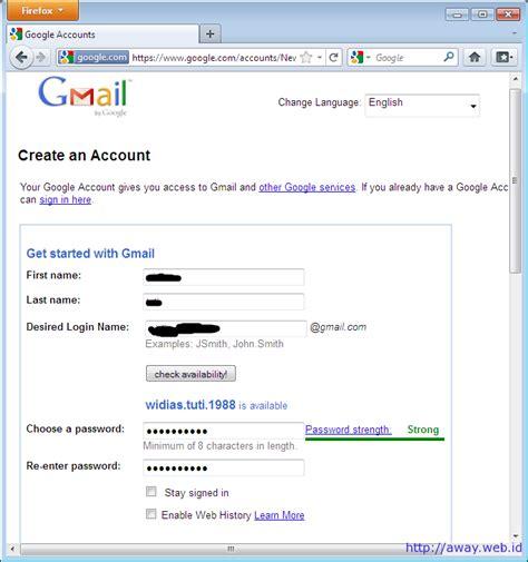 membuat akun gmail iphone template