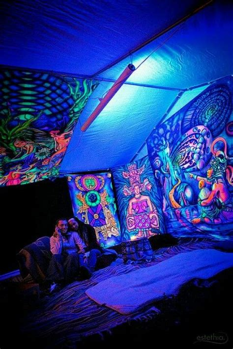 trippy lights for room black light room awesome rooms dyes black