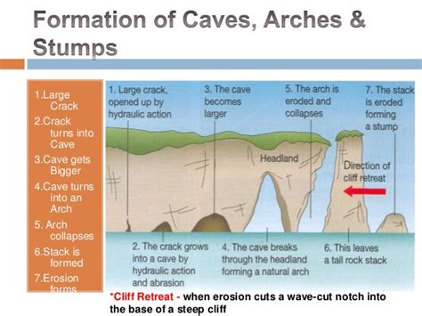 caves arches stacks and stumps diagram caves arches stump jenies osei