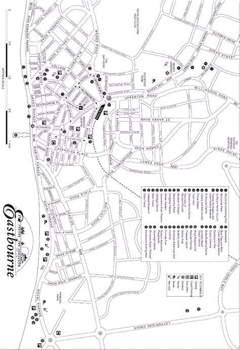printable map eastbourne central eastbourne map