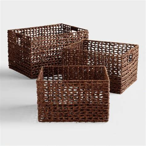 seagrass storage baskets world market