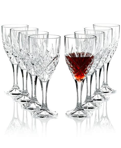 Godinger Barware by Godinger Stemware Dublin Goblets Set Of 8 Glassware
