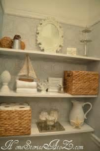 Powder Room Shelves Half Bath Reveal Powder Room Shelves Powder Rooms And