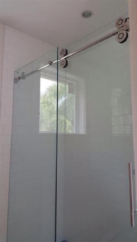 Shower Barn Door Barn Style Glass Shower Doors The Glass Shoppe A Division Of Builders Glass Of Bonita Inc