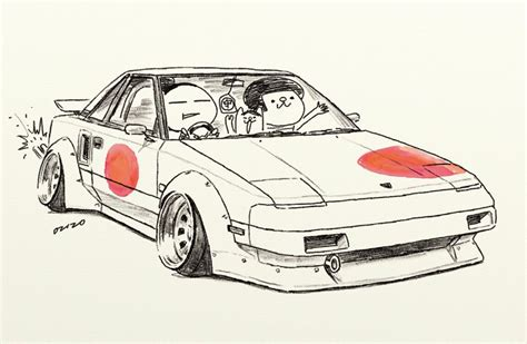 stanced cars drawing car illustration car jdm japanese