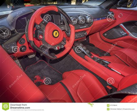 ferrari dashboard ferrari dashboard interior editorial stock image image