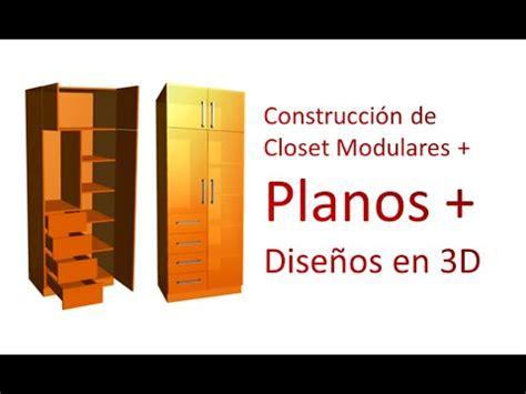 dise o de planos construcci 243 n de closet modulares planos dise 241 os en 3d construcci 243 n de closet armarios