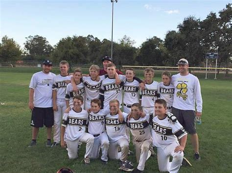 Youth Baseball Bears Win Swing For The Cure Tourney Title