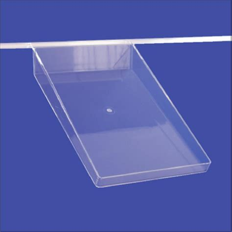 slatwall display plastic shelf clear