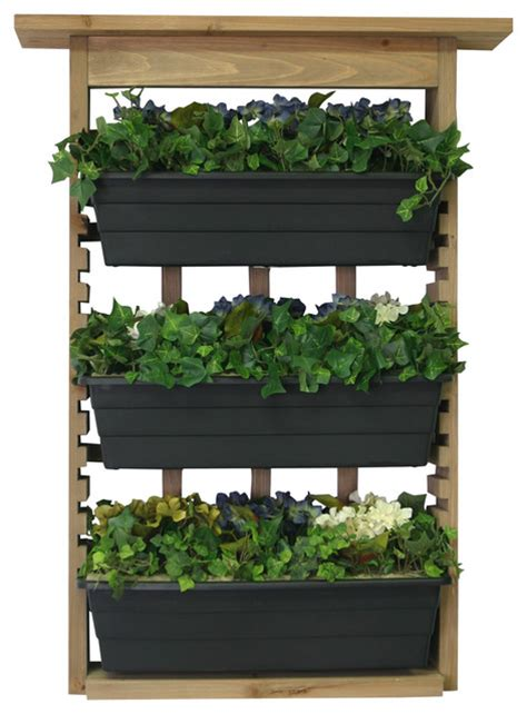 Outside Wall Planters by Algreen Garden View Vertical Living Wall Planter