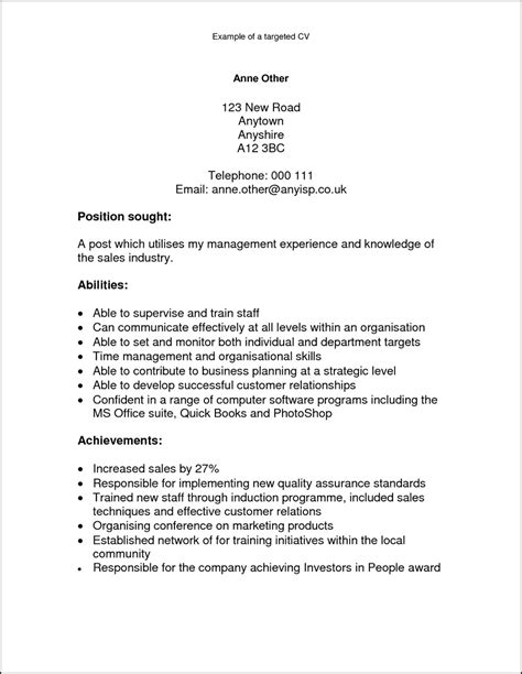 Resume Writing Qualities A Cv