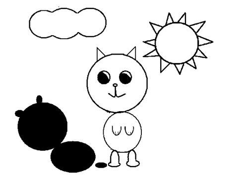 imagenes de amor para dibujar con sombra desenho de gatinho e sua sombra para colorir colorir com