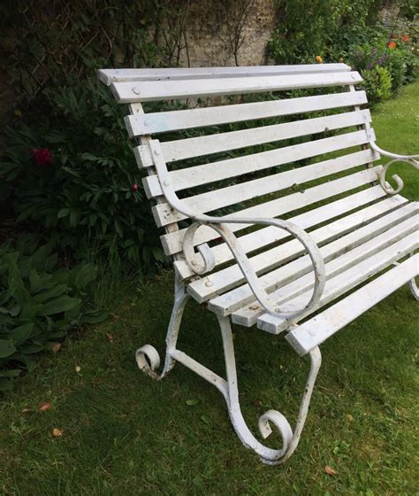 small wrought iron bench small edwardian wrought iron slatted wood garden bench