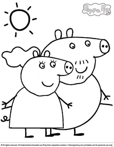 peppa pig valentines coloring pages free coloring pages of peppa pigpeppa pig