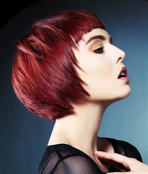 red hairstyles images a short red hairstyle from the jamison shaw collection no